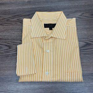 Robert Talbott Yellow Stripe French Cuff Shirt 18